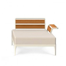 Ethimo Meridien Lounge Daybed links mit Armlehne